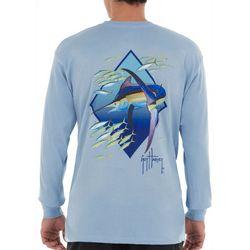 Guy Harvey Mens Diamond Edge Long Sleeve T-Shirt