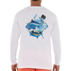 Guy Harvey Mens Grand Slam Long Sleeve T-Shirt