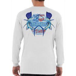 Guy Harvey Mens Sailfish America Long Sleeve T-Shirt