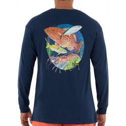 Guy Harvey Mens Inshore Grouper Long Sleeve T-Shirt