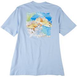 Mens Costal Redfish Short Sleeve T-Shirt