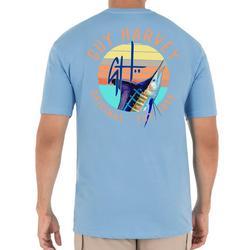 Mens Guy Harvey Sunset  Short Sleeve T-Shirt