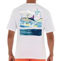 Mens Marlin Back Screen Print T-Shirt