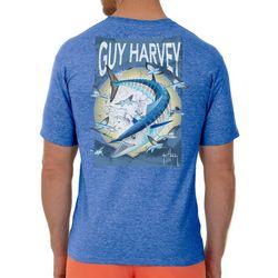 Guy Harvey Mens Offshore Haul Heathered Short Sleeve T-Shirt