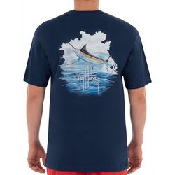Guy Harvey Mens Blue Bertram Short Sleeve T-Shirt