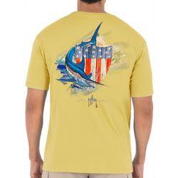 Guy Harvey Mens Patriotic Shield Marlin T-Shirt