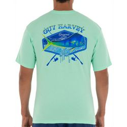 Guy Harvey Mens Mahi Hex Short Sleeve T-Shirt