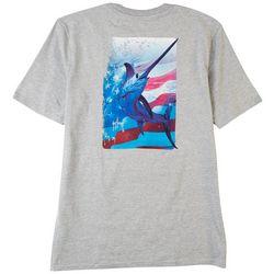 Guy Harvey Mens Swords & Flags Heathered T-Shirt