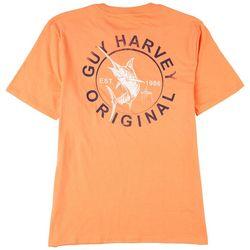 Guy Harvey Mens Circle Marlin Solid T-Shirt
