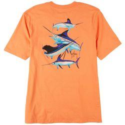 Guy Harvey Mens Triple Grand Slam Pocket T-Shirt
