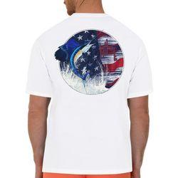 Guy Harvey Mens Star & Sailfish Short Sleeve T-Shirt