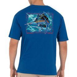 Guy Harvey Mens Patriotic Sailfish Short Sleeve T-Shirt