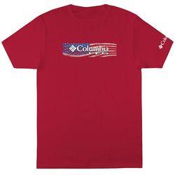 Columbia Mens PFG American Flag Short Sleeve T-Shirt