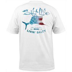 Salt Life Mens Amerisail Short Sleeve T-Shirt