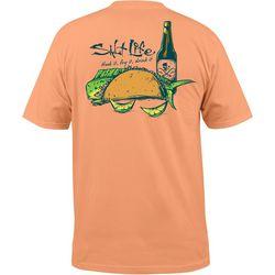 Salt Life Mens Hook It Fry It Drink It Short Sleeve T-Shirt