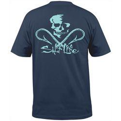 Salt Life Mens Skull and Hooks Pocket T-Shirt