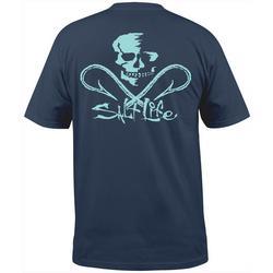 Mens Skull and Hooks Pocket T-Shirt