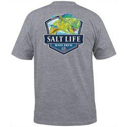 Salt Life Mens Mahi Brew Heathered Pocket T-Shirt