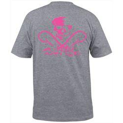 Salt Life Mens Skull & Hooks Heathered Pocket T-Shirt