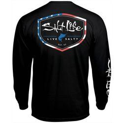 Salt Life Mens Americana Shield Long Sleeve T-Shirt