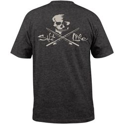 Salt Life Mens Skulls & Poles Heathered T-Shirt