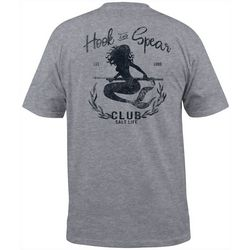 Salt Life Mens Hook & Spear Mermaid Heathered T-Shirt