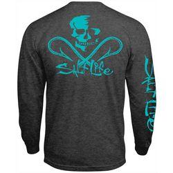 Salt Life Mens Skull & Hooks Pocket Long Sleeve T-Shirt