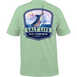 Salt Life Mens Blue Storm Pocket T-Shirt