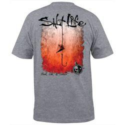 Salt Life Mens Hook Line & Sinker Fade T-Shirt