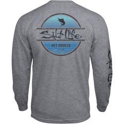 Mens Marlin Get Hooked Heather Long Sleeve T-Shirt