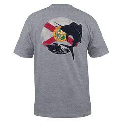 Salt Life Mens Florida Dawn Heathered Short Sleeve T-Shirt