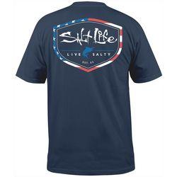 Salt Life Mens Americana Shield Short Sleeve T-Shirt