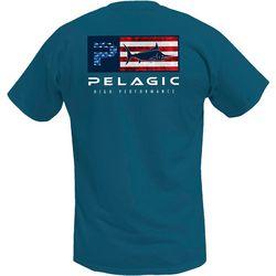 PELAGIC Mens Deluxe Americana Premium T-Shirt