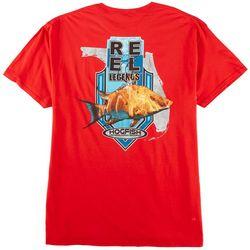 Reel Legends Mens Florida Hog Graphic T-Shirt