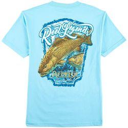 Reel Legends Mens Redfish Crew T-Shirt