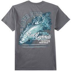 Reel Legends Mens Silver King T-Shirt