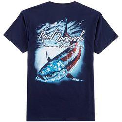 Reel Legends Mens American Tuna Crew T-Shirt