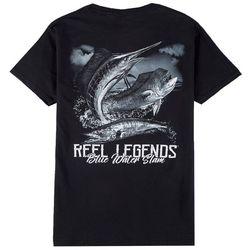 Reel Legends Mens Blue Water Slam Crew Neck T-Shirt