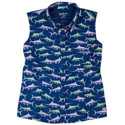 Petite Marlins Mariner Button Down Shirt