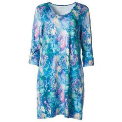 Reel Legends Womens Keep It Cool Colorful Marbled Dress