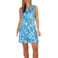Petite Reel-Tec Print Ruffle Dress