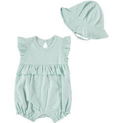 Baby Girls 2-pc. Romper Set