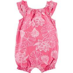 Baby Girls Floral Flutter Sleeve Romper