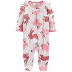 Carters Baby Girls Bunny Footie Pajamas