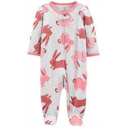 Baby Girls Bunny Footie Pajamas