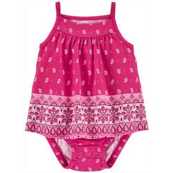 Baby Girls Bandana Sleeveless Sunsuit