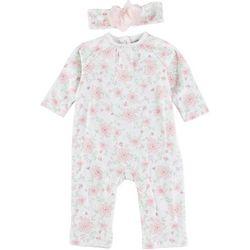 Little Me Baby Girls 2-pc. Floral Flourish One Piece Set