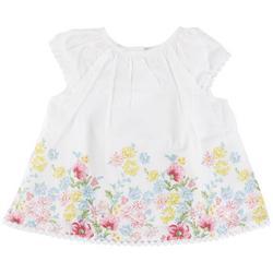 Baby Girls 3-pc. Floral Sunsuit Set