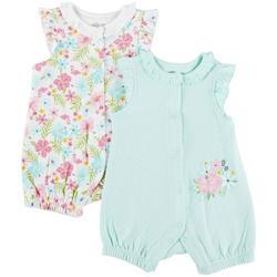 Baby Girls 2-pk. Floral Romper Set