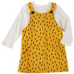 Baby Girls 2-pc. Cheetah Dress Set